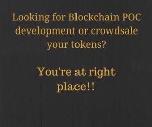 Blockchain crowdsale token