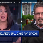 "[Video] ""Sir (Jamie Dimon), Bitcoin is not a fraud"" – John McAfee"