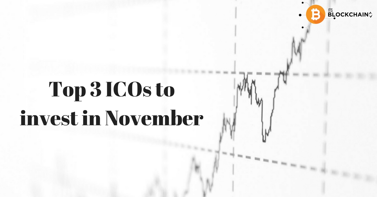 Top 3 ICOs to invest in November