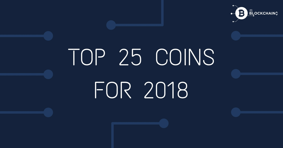 Top crypto coins for 2018