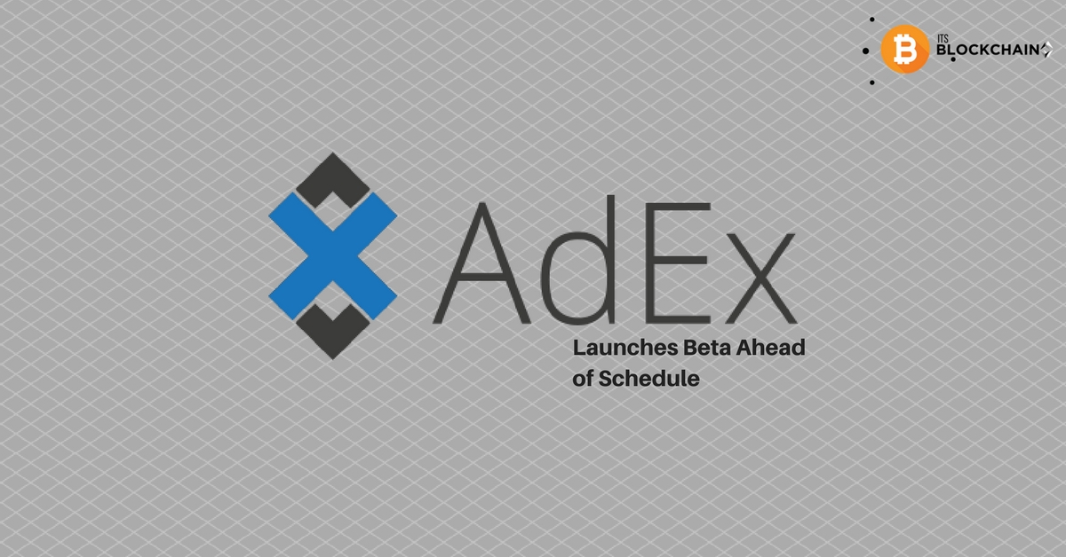 Adex Launches Beta Ahead of Schedule