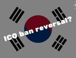 South Korea ICO ban reversal?