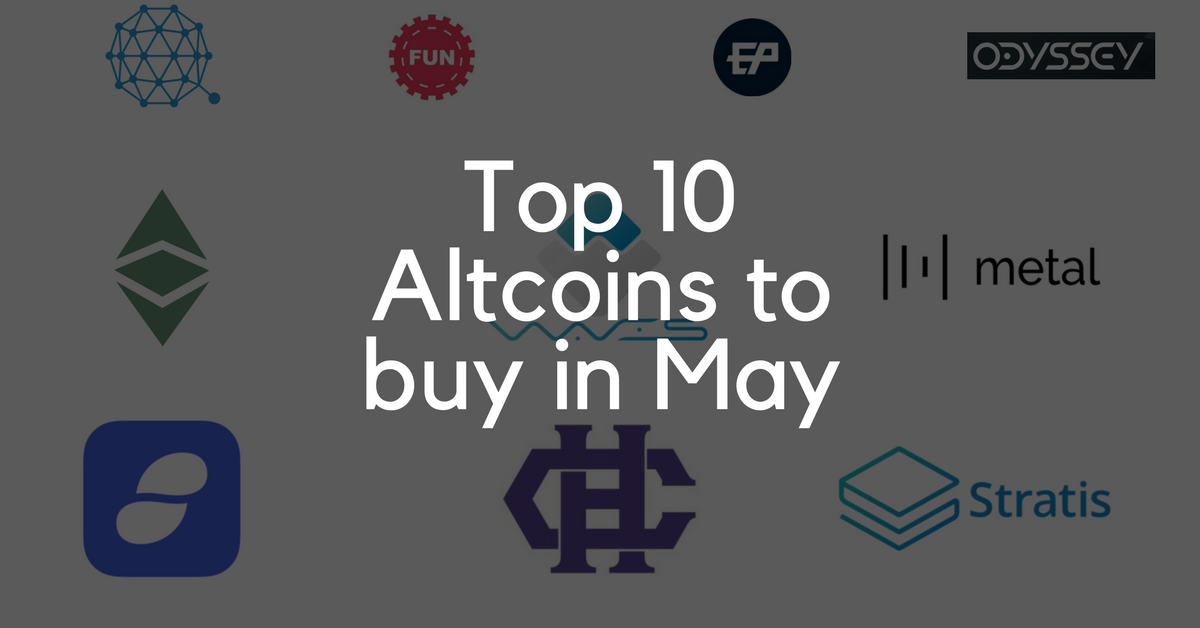 Top 10 Altcoins to buy in May