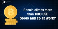 Bitcoin climbs more than 1000 USD - Soros and co at work?