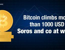 Bitcoin climbs more than 1000 USD - Soros and co at work?