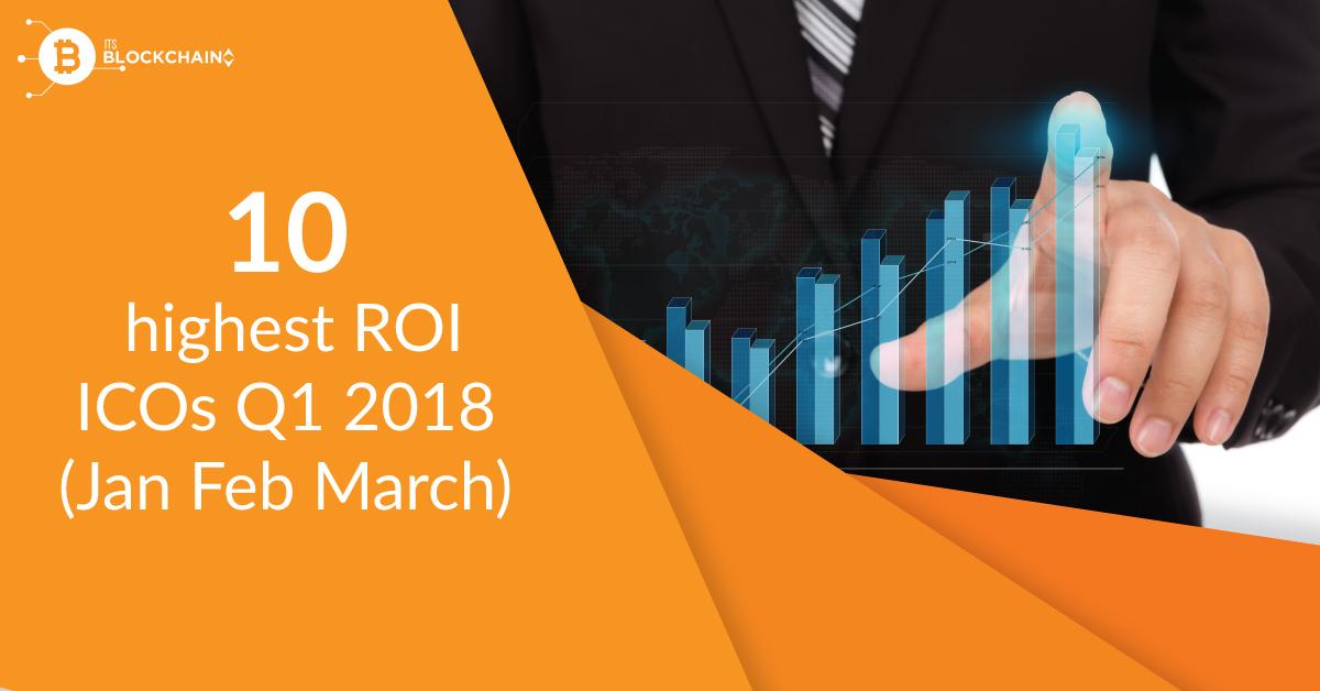Top 10 highest ROI ICOs Q1 2018 (Jan Feb March)